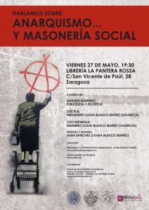 Hablamos sobre anarquismo y masonería social, cartel de la charla