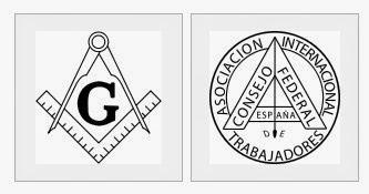 Relación gráfica masonería y anarquismo